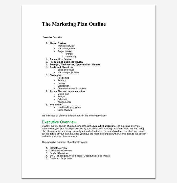 Simple Marketing Plan Template Elegant Marketing Plan Outline Template 16 Examples for Word