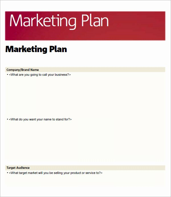 Simple Marketing Plan Template Fresh 14 Sample Marketing Plan Templates