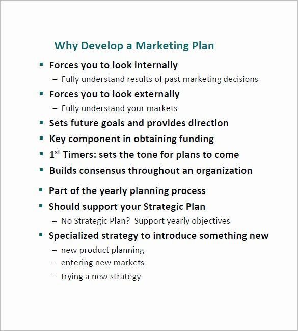 Simple Marketing Plan Template Lovely 11 Simple Marketing Plan Template Free Sample Example