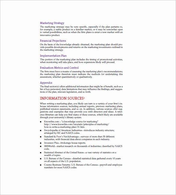 Simple Marketing Plan Template Luxury 11 Simple Marketing Plan Template Free Sample Example