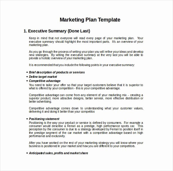 Simple Marketing Plan Template New Marketing Plan Templates Marketing Plan Examples