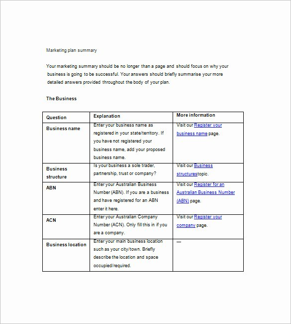 Simple Marketing Plan Template Unique 19 Simple Marketing Plan Templates Doc Pdf
