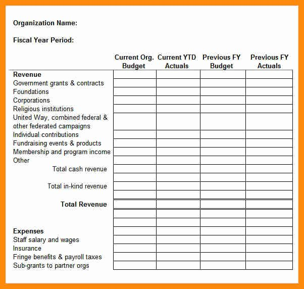 Simple Nonprofit Budget Template Beautiful Excel Expenses Report