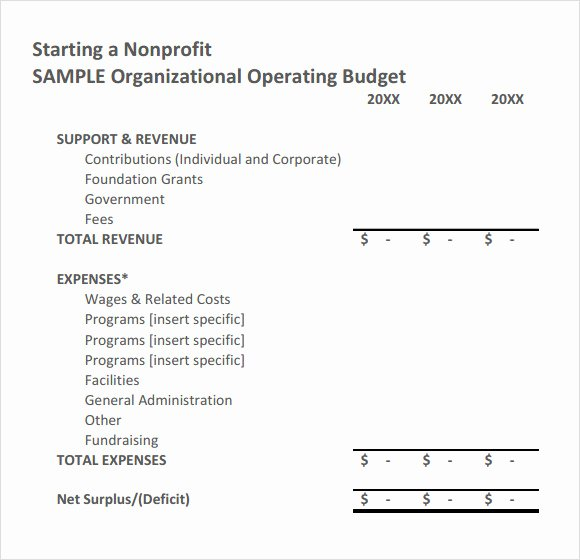Simple Nonprofit Budget Template Beautiful Sample Nonprofit Bud Template