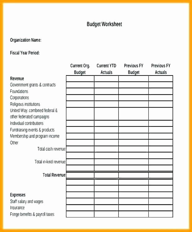 Simple Nonprofit Budget Template Luxury Nonprofit Bud Template Excel Simple Project Bud