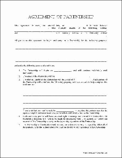 Simple Partnership Agreement Template Doc Awesome Partnership Agreement Template