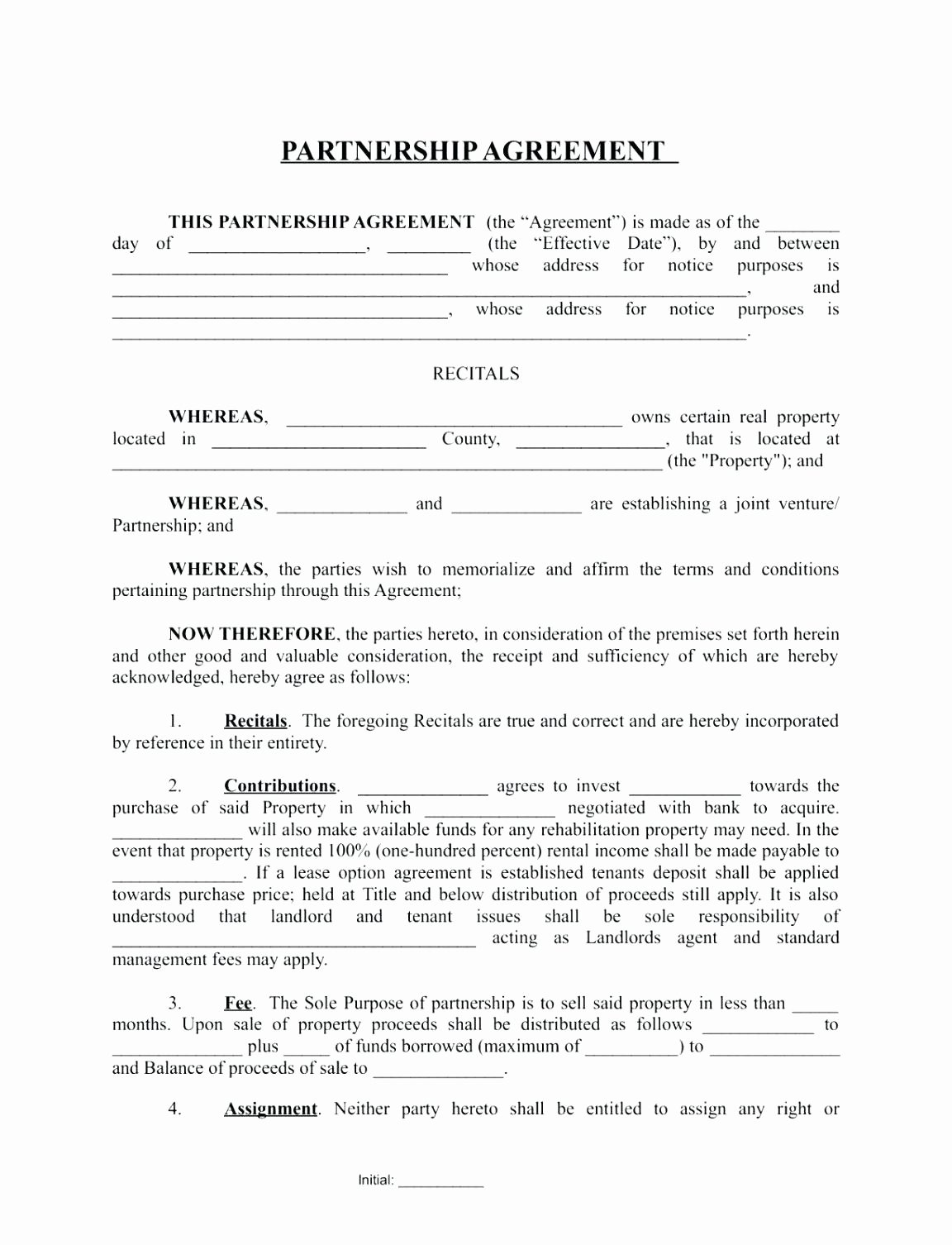 Simple Partnership Agreement Template Doc Awesome Template Partner Agreement Template
