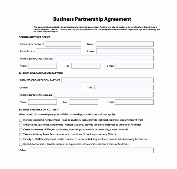 Simple Partnership Agreement Template Doc Elegant 10 Sample Business Partnership Agreements