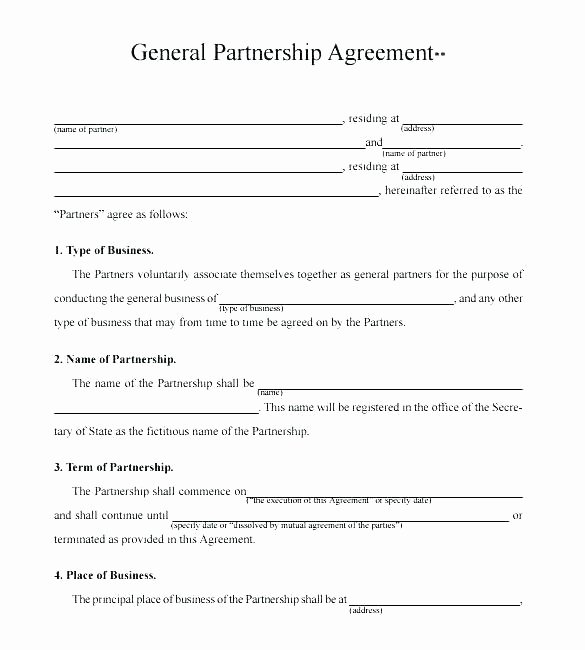 Simple Partnership Agreement Template Doc Elegant Partnership Agreement Template Business Partnership