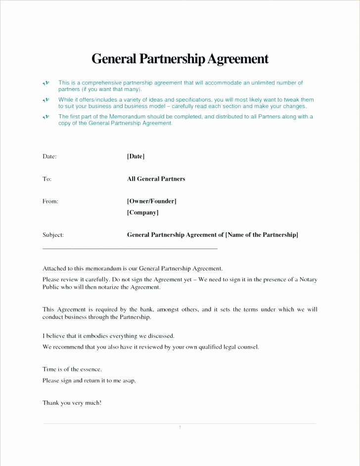 Simple Partnership Agreement Template Doc Fresh Partnership Agreement Template Download Business Contract