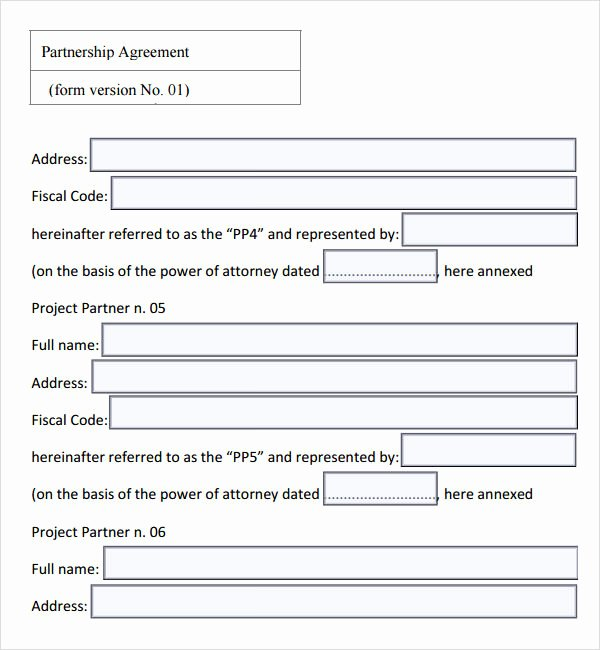 Simple Partnership Agreement Template Doc Inspirational 16 Partnership Agreement Templates