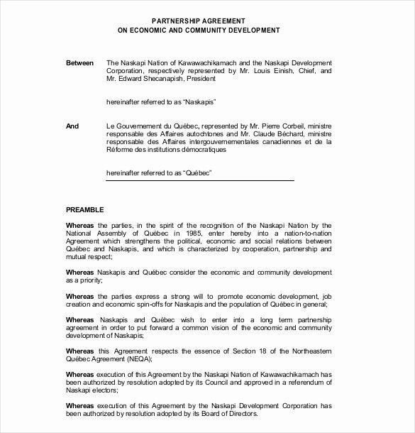 Simple Partnership Agreement Template Doc Inspirational 18 Partnership Agreement Templates – Free Sample Example