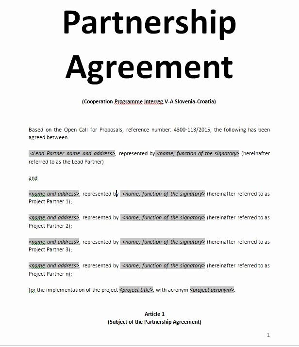 Simple Partnership Agreement Template Doc Inspirational Exemples Samples Partnership Agreement Doc and Pdf Sample