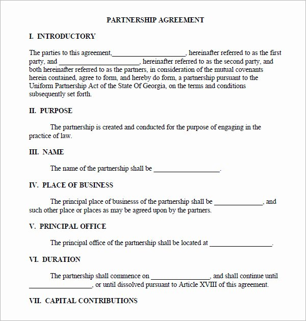 Simple Partnership Agreement Template Free Beautiful 11 Sample Business Partnership Agreement Templates to