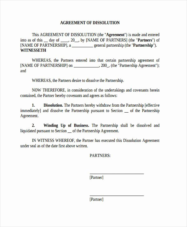 Simple Partnership Agreement Template Free Elegant 49 Examples Of Partnership Agreements