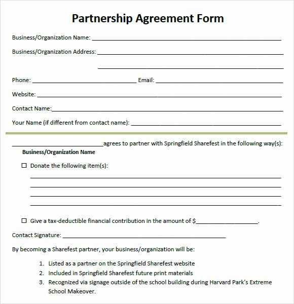 Simple Partnership Agreement Template Free Elegant 8 Sample Partnership Agreements