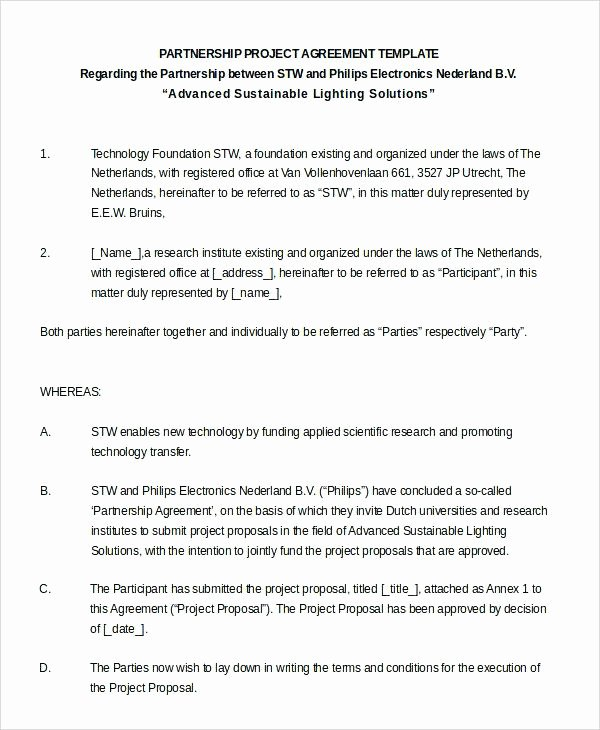Simple Partnership Agreement Template Free New Examples Business Partnership Agreements Collaboration