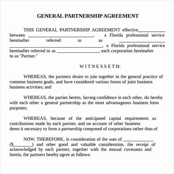Simple Partnership Agreement Template Free Unique Printable Sample Partnership Agreement Sample form