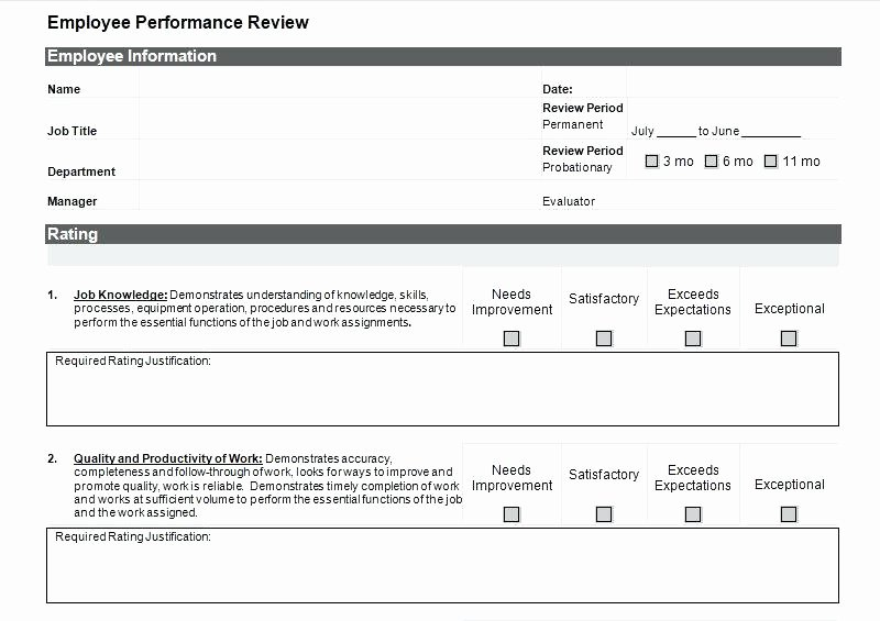 Simple Performance Review Template Beautiful Simple Performance Appraisal form Simple Performance
