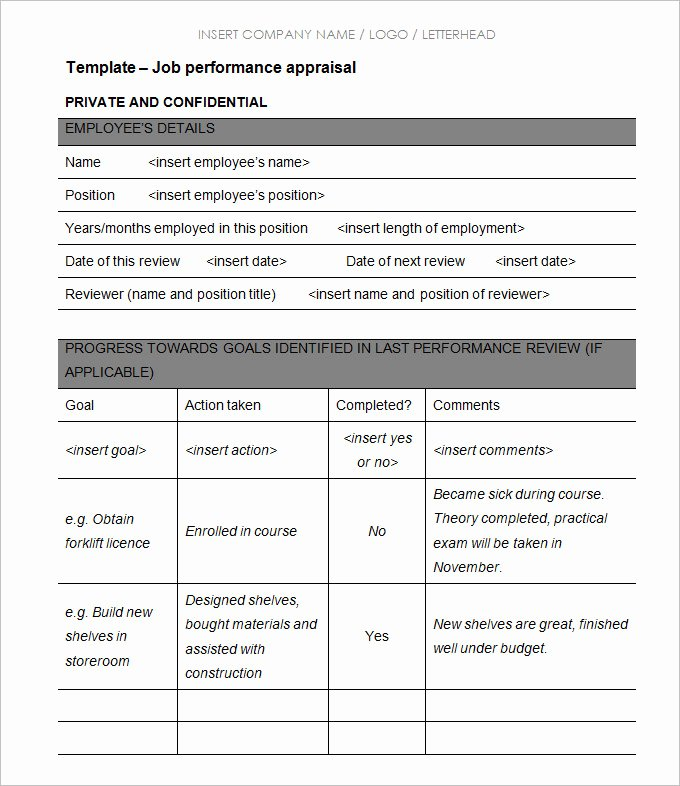 Simple Performance Review Template Elegant 13 Sample Hr Appraisal forms Pdf Doc