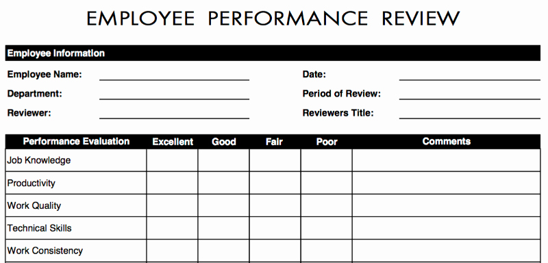Simple Performance Review Template Fresh 70 Free Employee Performance Review Templates Word Pdf