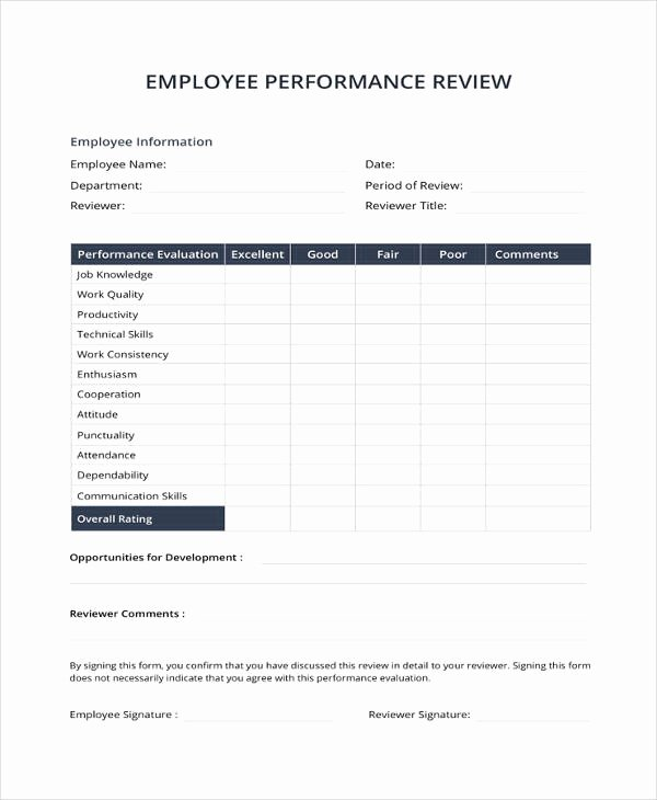 Simple Performance Review Template Lovely 9 Sample Performance Review Templates Pdf Doc