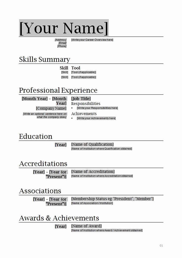 Simple Professional Resume Template Awesome Professional Resume Template
