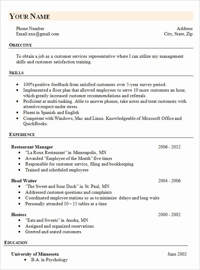 Simple Professional Resume Template Awesome Simple Resume Template 46 Free Samples Examples