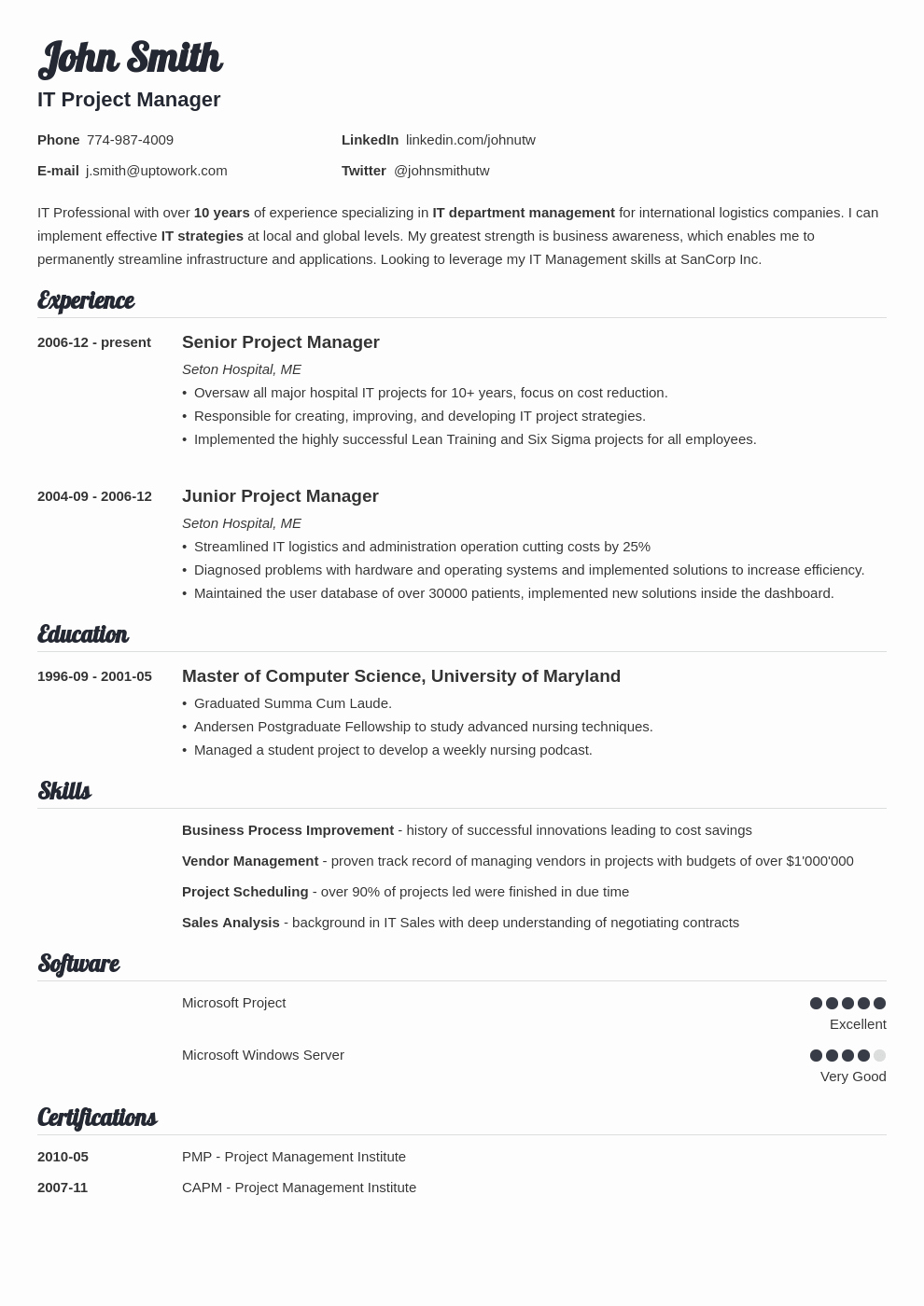 Simple Professional Resume Template Beautiful 20 Resume Templates [download] Create Your Resume In 5