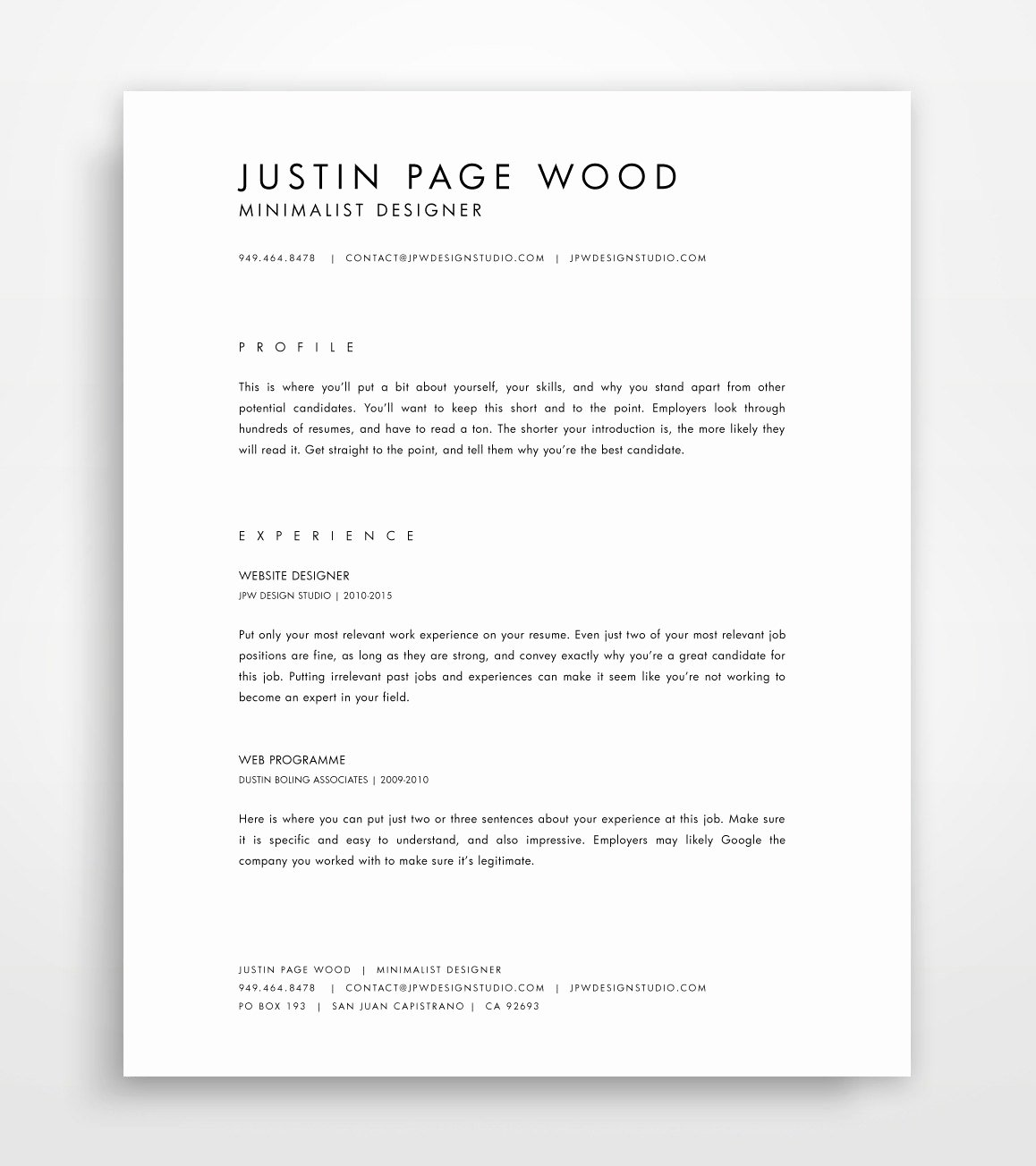 Simple Professional Resume Template Beautiful Cv Template Simple Resume Template Professional Resume