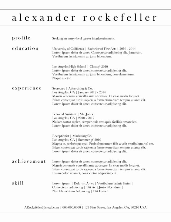 Simple Professional Resume Template Best Of Custom Resume Template