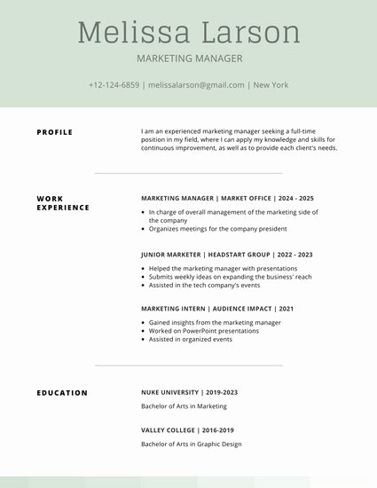 Simple Professional Resume Template Best Of Customize 505 Simple Resume Templates Online Canva
