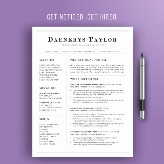 Simple Professional Resume Template Best Of Professional Resume Template Simple Resume Design Instant