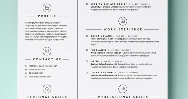 Simple Professional Resume Template Best Of Simple Resume Template Vol4 Resumes Templates
