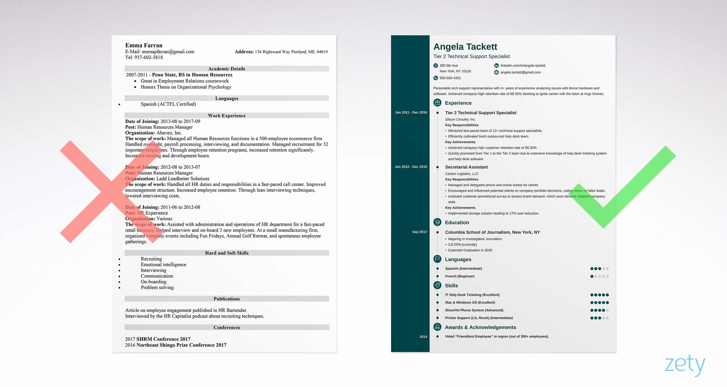 Simple Professional Resume Template Elegant Simple Resume Templates 15 Examples to Download & Use now