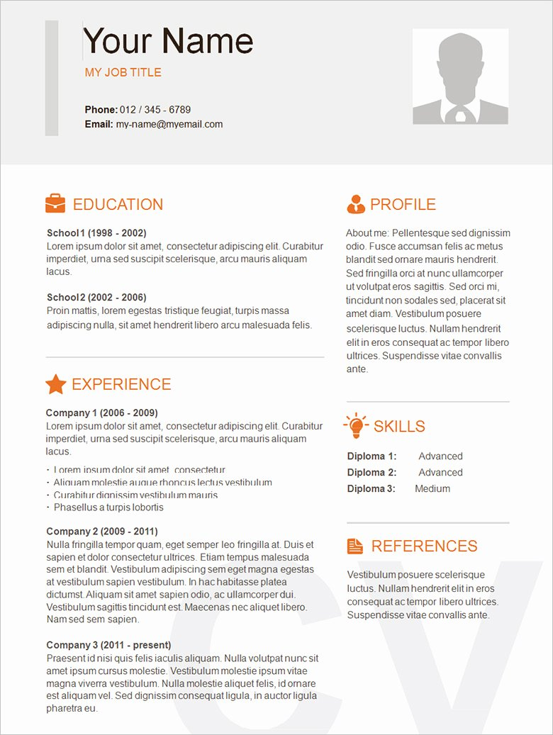 Simple Professional Resume Template Unique 70 Basic Resume Templates Pdf Doc Psd