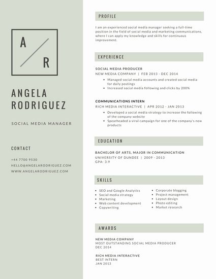 Simple Professional Resume Template Unique Gray Simple Minimalist Resume Templates by Canva