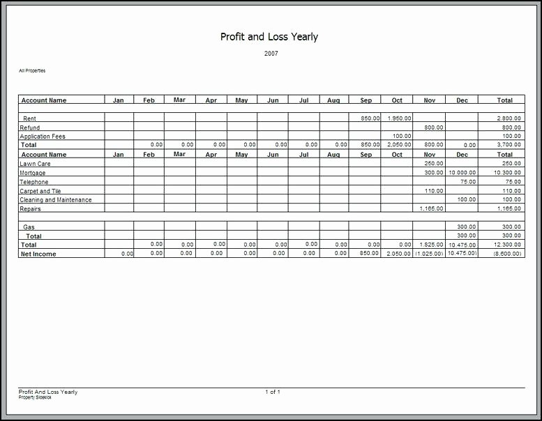 Simple Profit and Loss Template Beautiful More From Business Basic Profit and Loss Sheet Simple