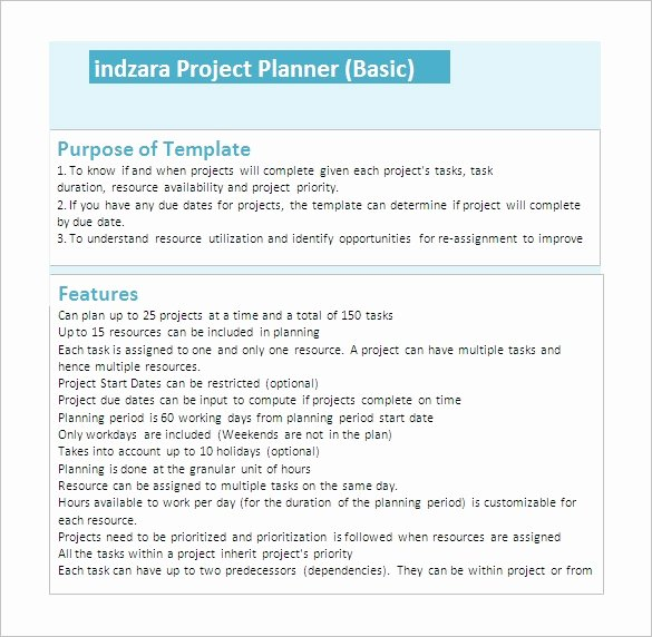 Simple Project Plan Template Word Awesome 23 Project Plan Template Doc Excel Pdf
