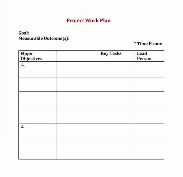 Simple Project Plan Template Word Awesome Work Plan Template 17 Download Free Documents for Word