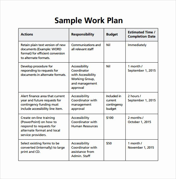 Simple Project Plan Template Word Beautiful Work Plan Template 17 Download Free Documents for Word