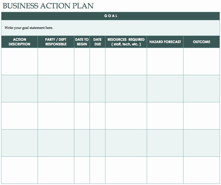Simple Project Plan Template Word Inspirational Free Action Plan Templates Smartsheet