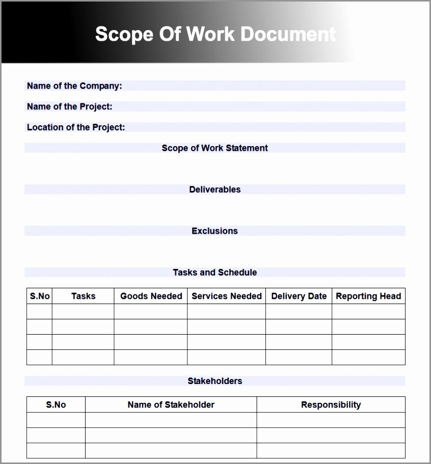 Simple Project Scope Template Best Of 6 Project Scope Document Template Free Dtaoa