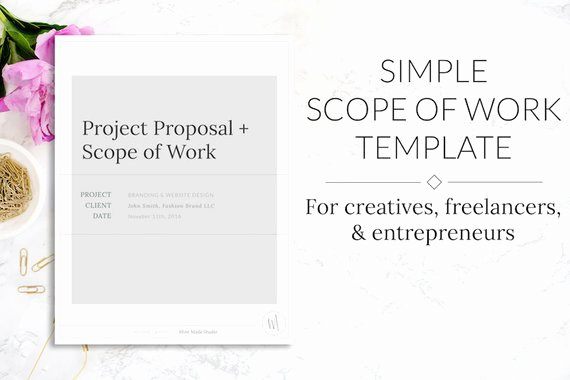Simple Project Scope Template Unique Minimalist Simple Scope Of Work & Project Proposal Template