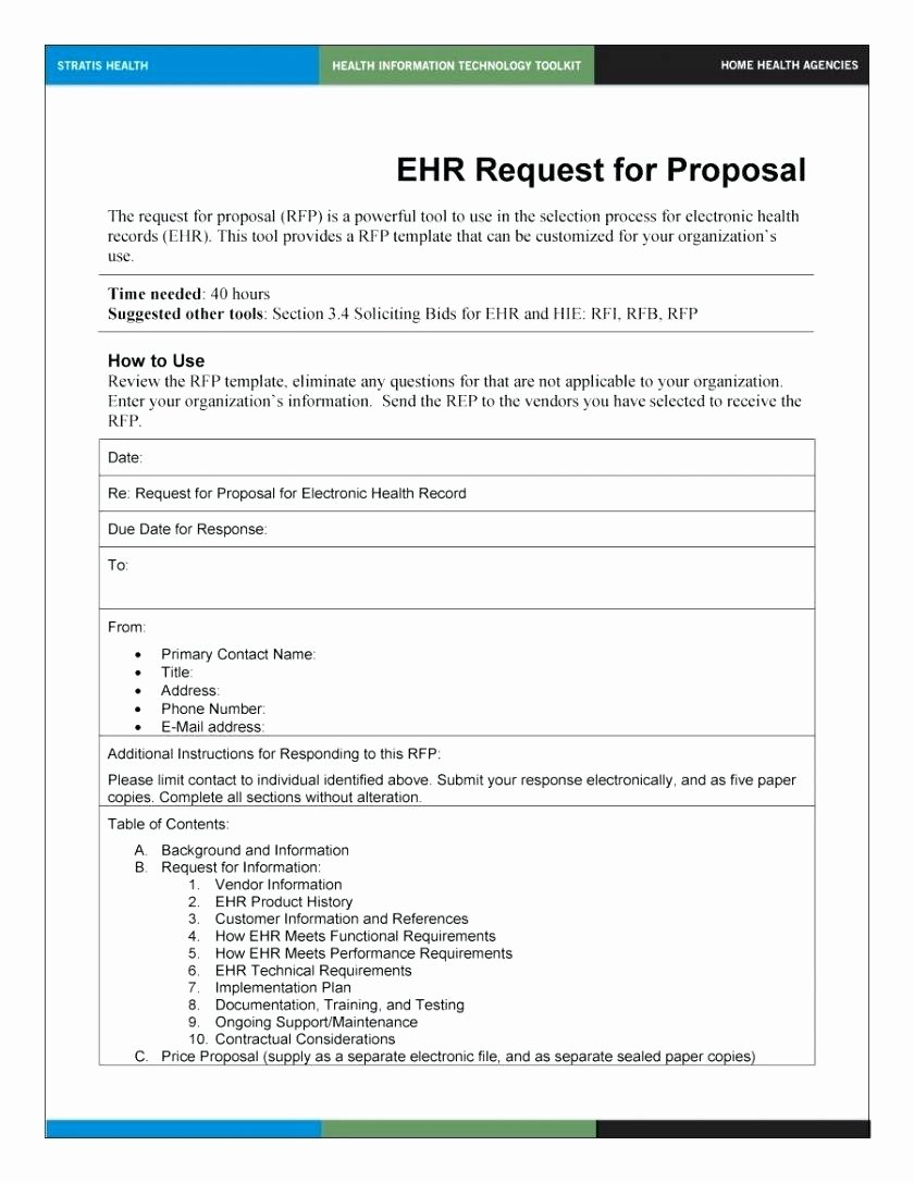 Simple Request for Proposal Template Fresh Template Rfi Template Word