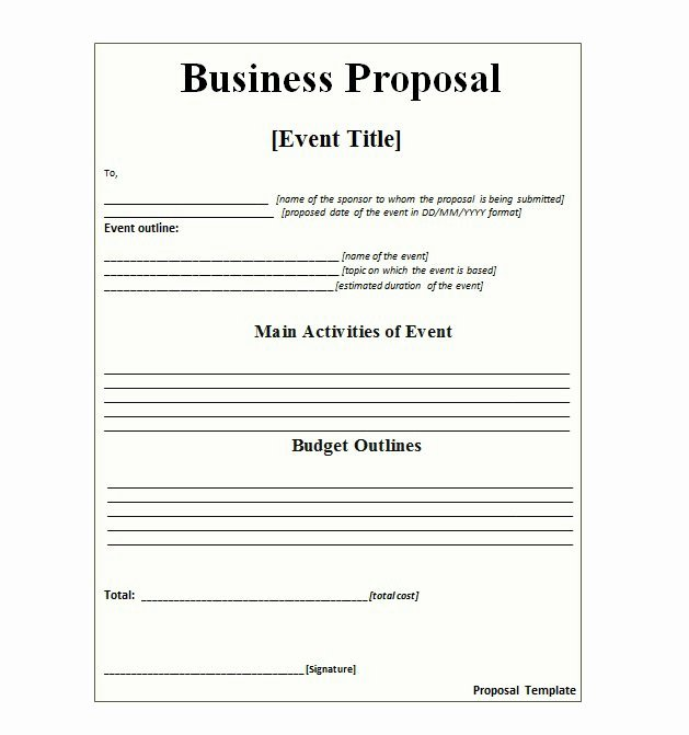 Simple Request for Proposal Template Luxury 30 Business Proposal Templates & Proposal Letter Samples
