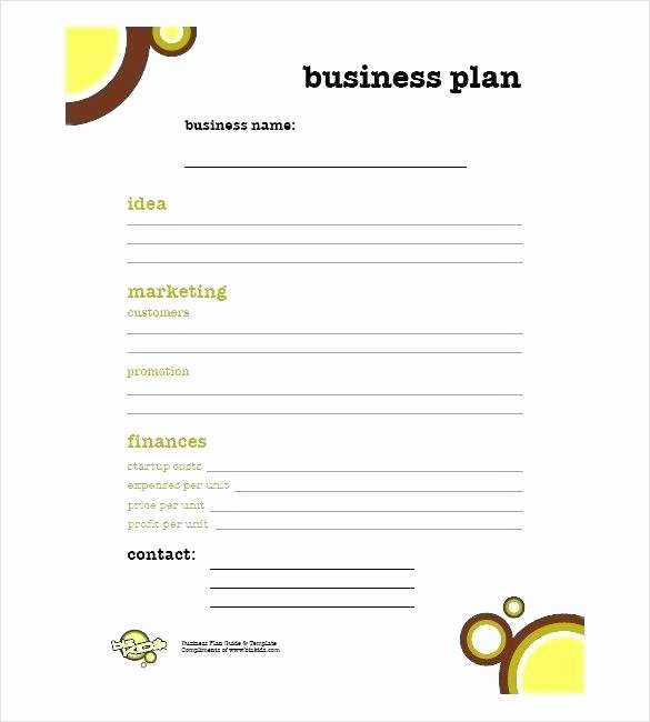 Simple Restaurant Business Plan Template Beautiful Business Plan Sample Free Pdf Simple S Plan Template Free