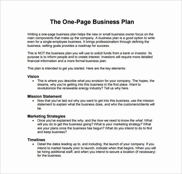 Simple Restaurant Business Plan Template Fresh 19 Business Plan Templates Sample Word Google Docs