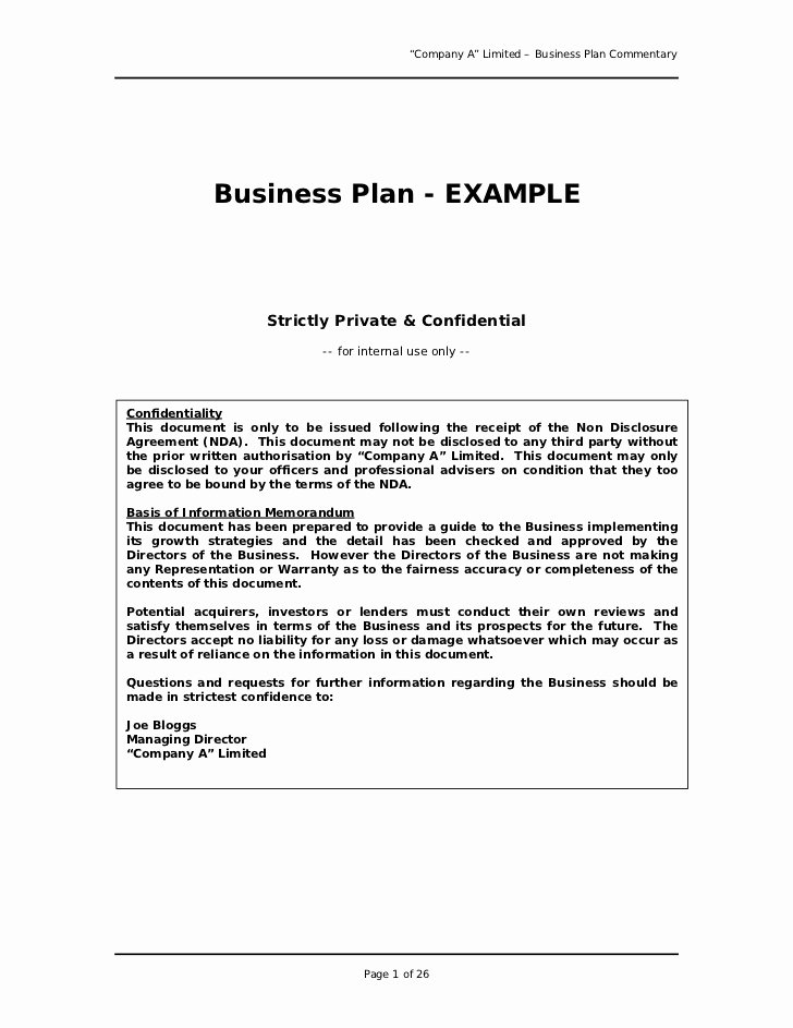 Simple Restaurant Business Plan Template New Free Printable Business Plan Sample form Generic