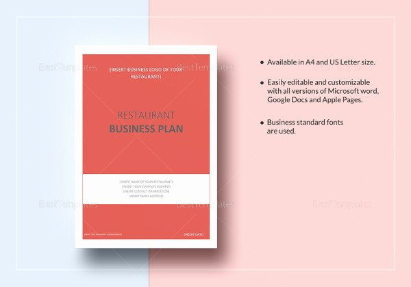 Simple Restaurant Business Plan Template Unique Simple Business Plan Template – 20 Free Sample Example